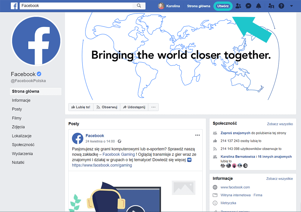 Jak założyć fanpage na Facebooku - social media, promocja, kobieca marka, Kobieca Strona Biznesu