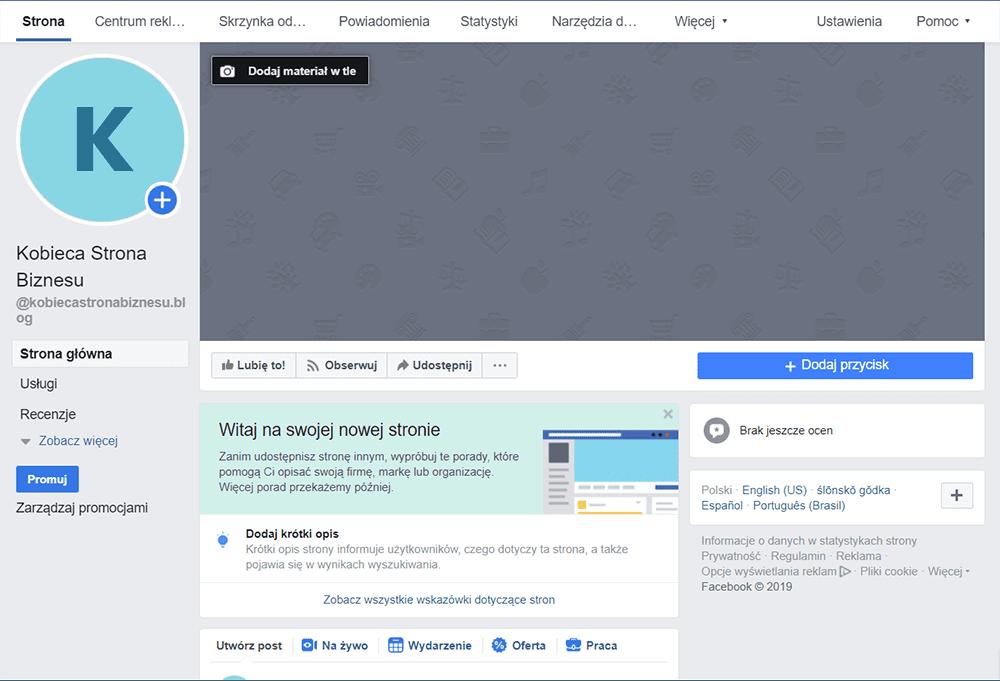 Opis fanpage na Facebooku - social media, promocja, kobieca marka, Kobieca Strona Biznesu