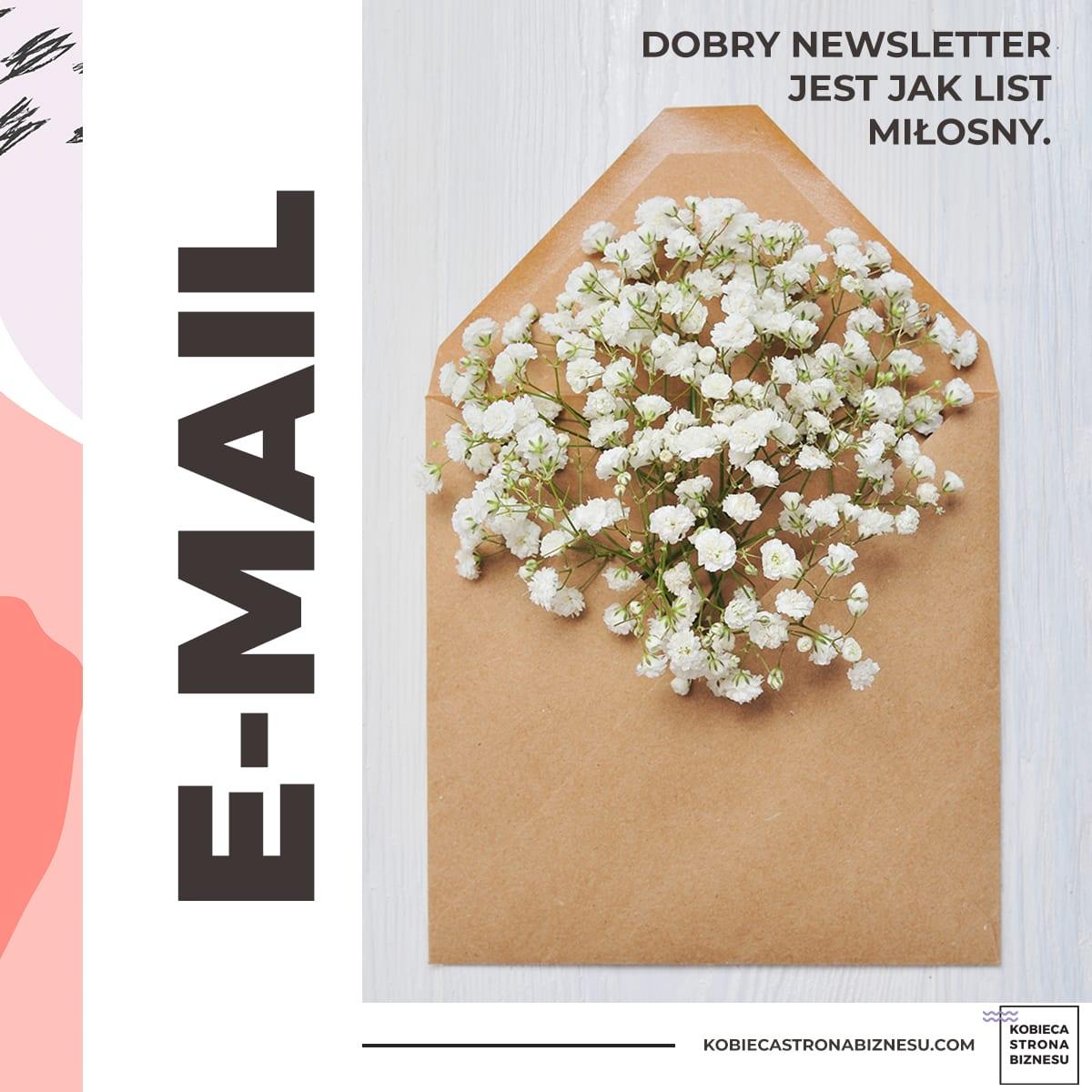 Newsletter w małej firmie, mailing, email marketing - kobieca marka, rozwój marki, jak promować swoją markę - Kobieca Strona Biznesu