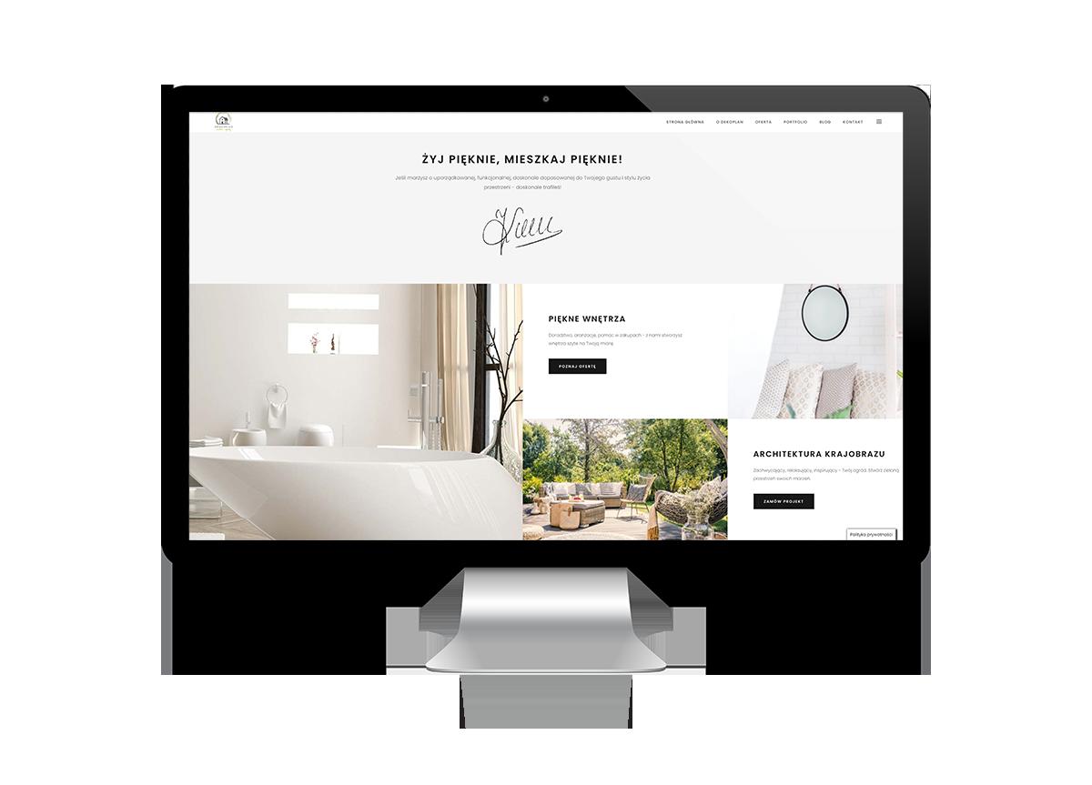 kobiece strony internetowe - kobieca strona biznesu - dekoplan