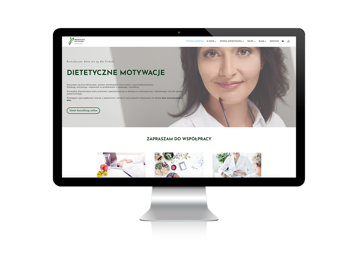 kobiece strony internetowe - kobieca strona biznesu - dietetyczne motywacje