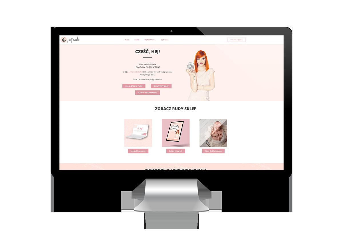 kobiece strony internetowe - kobieca strona biznesu - jest rudo