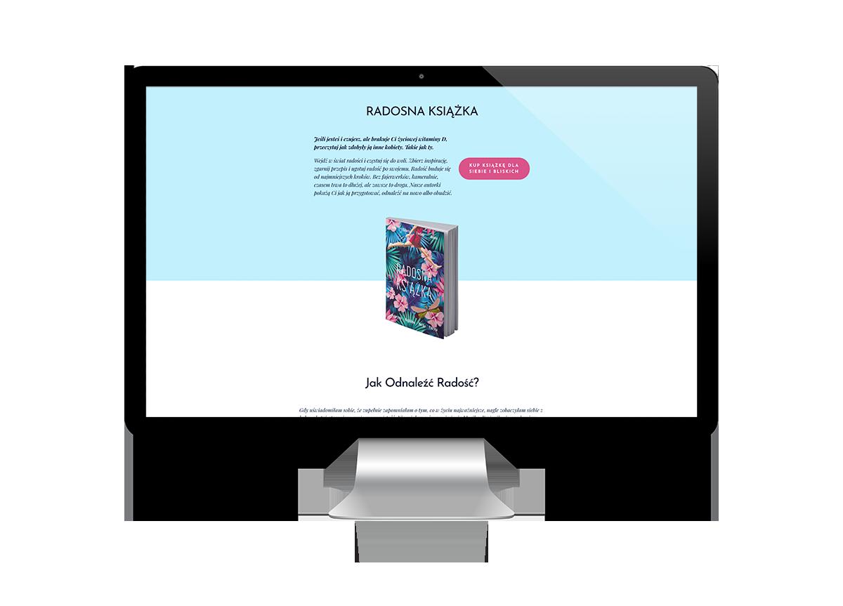 kobiece strony internetowe - kobieca strona biznesu - radosna książka